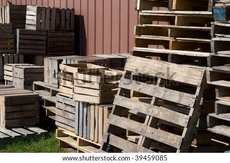 Wooden Warehouse Crates Wooden Crates And Shipping