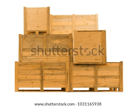 wooden crates for transport of merchandise #1031165938