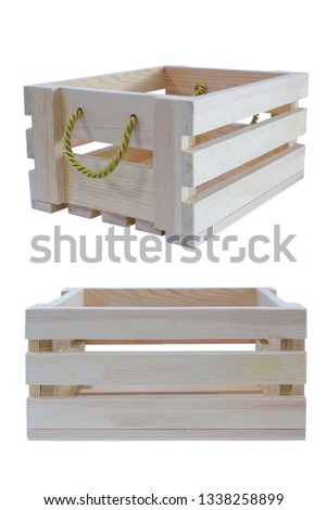 Wooden crates on white background #1338258899