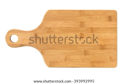 Wooden cutting board isolated on white Сток-фото ©
