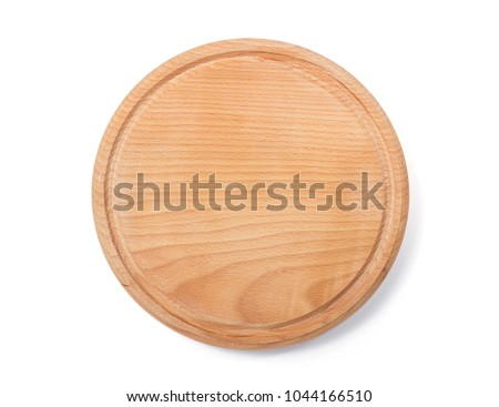 wooden cutting board isolated on white background #1044166510