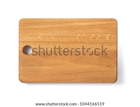 wooden cutting board isolated on white background Stock photo ©