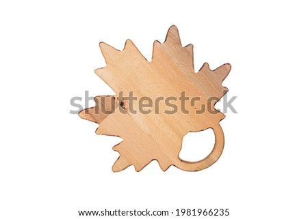 wooden cutting board on white , ahşap kesme tahtası, el yapımı ahşap kesme tahtası ,  Stok fotoğraf ©