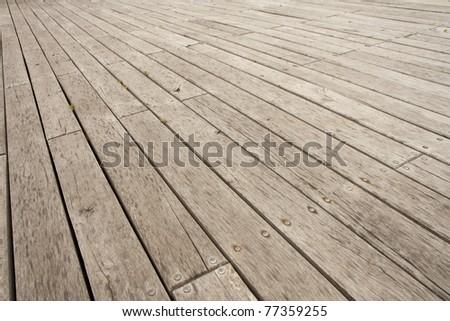 Wooden deck or outdoor terrace