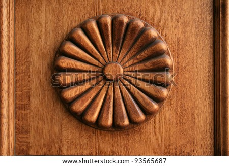 wooden decor-rosette