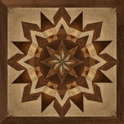 wooden decorative pattern floor tile