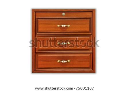 Wooden desk drawer