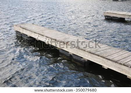 wooden docks in a lake