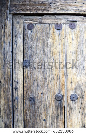 Wooden door details, Mission San Xavier del Bac, Arizona, USA