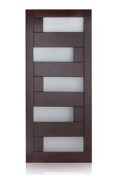 Wooden door isolated on white background. Premium handmade (luxury) door.