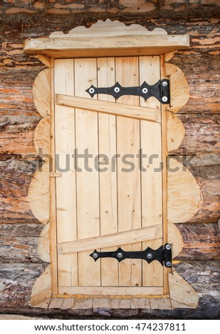wooden door of log house close up #474237811 & Free photos Close up of old log cabin door / Old Cabin Door / Close ...
