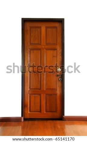 Wooden doors locked