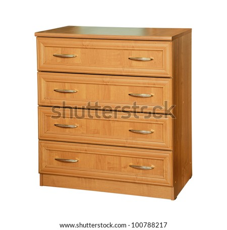 Wooden dresser isolated on white
