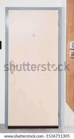 Wooden entrance door of contemporary apartment #1536711305