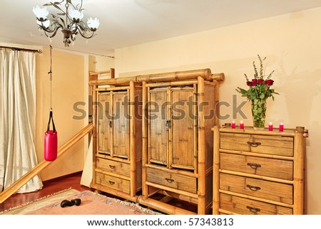 Wooden ethnic bamboo furniture