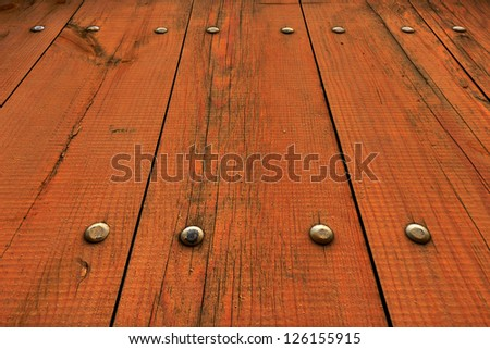Wooden Fence at Unusual Perspective
