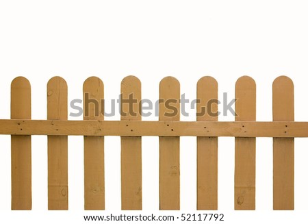 wooden fence isolated an white background