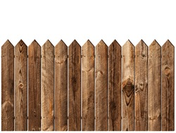wooden fence over the white backgroynd