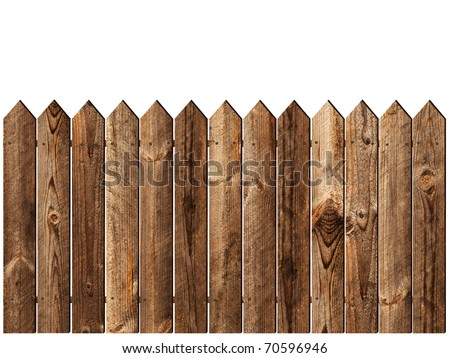 wooden fence over the white backgroynd #70596946