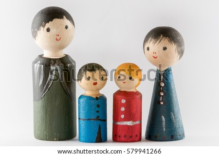 wooden figure family #579941266