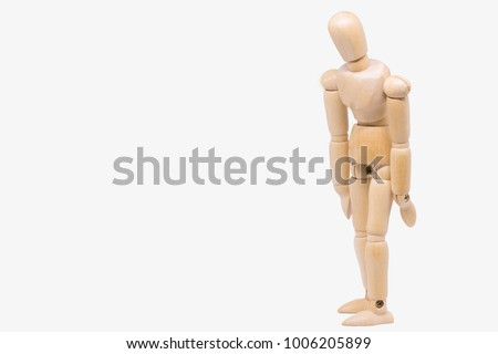 wooden figure sad disappointment #1006205899