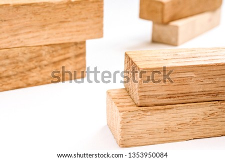 wooden figures-architectural figures #1353950084