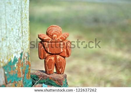wooden figurine man