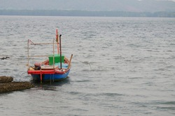 wooden fishing boat in the sea,Thailand