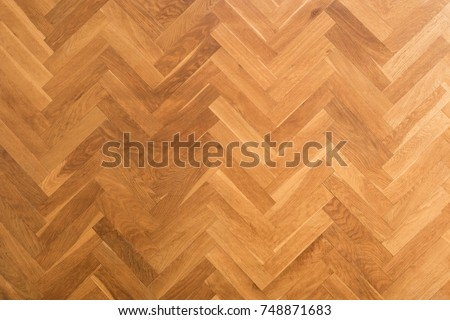 wooden floor background - herringbone parquet background - #748871683