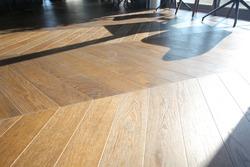 Wooden floor made of solid wooden floor, wooden texture, parquet flooring Oak flooring as planks design