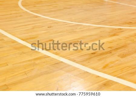 Wooden Floor Of Basketball Court Ez Canvas