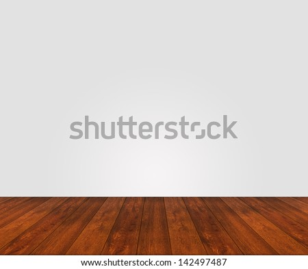 wooden floor with white painted unstructured wall
