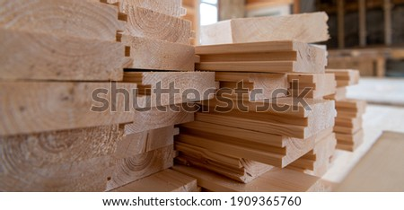 Wooden floorboards on a construction site Stock photo ©