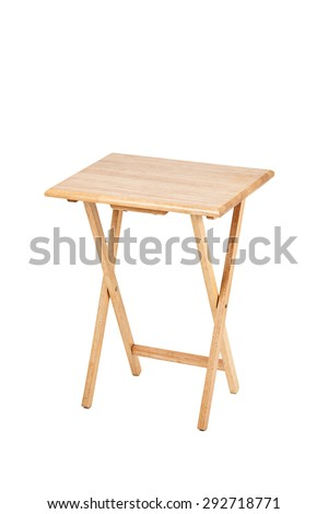 Wooden folding table on white background #292718771