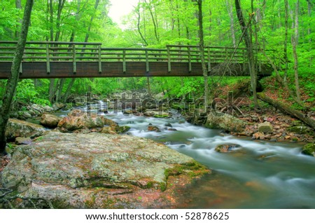 how to build a wood bridge over a creek