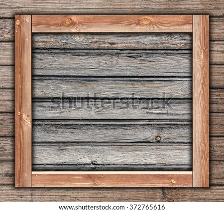 wooden frame box template made with two different types of wood