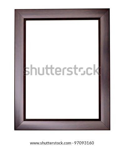 wooden frame for painting or picture on white background with clipping path