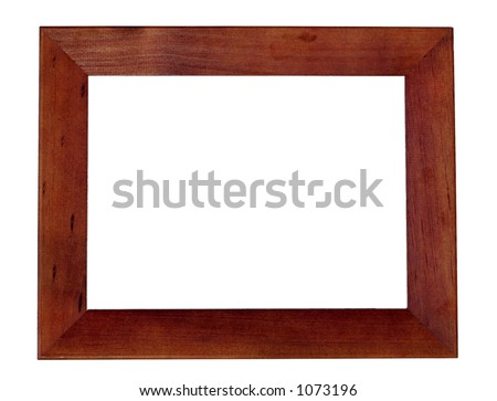 Wooden Frame, isolated