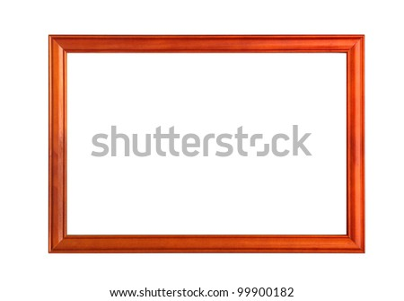 wooden frames on white background
