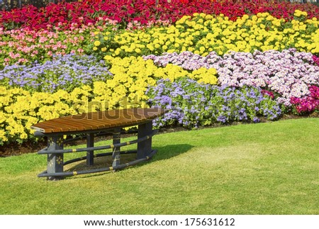 wooden garden chair on garden
