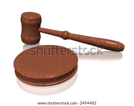 Wooden gavel from the court on white background (see more in my portfolio)