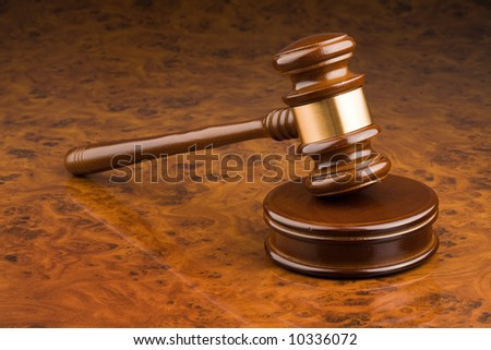 Wooden gavel - symbol for jurisdiction