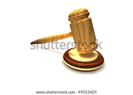 Wooden gavel - symbol of justice