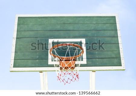 Wooden Green Basketball Hoop