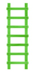 Wooden green step ladder isolated on the white background