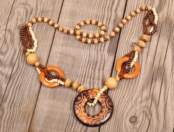 wooden handcraft jewellery texture necklaces