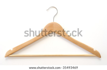 Wooden Hanger - stock photo