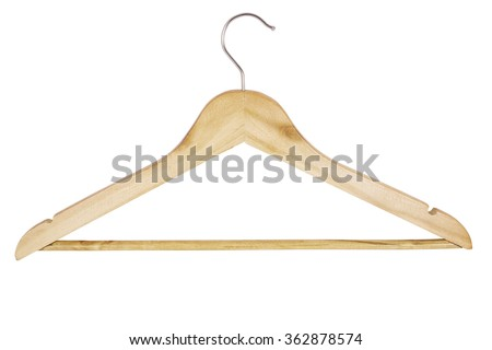 Shutterstock wooden hanger for clothes isolated on white background