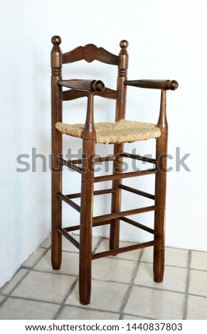 Wooden High Chair Free Images And Photos Avopixcom
