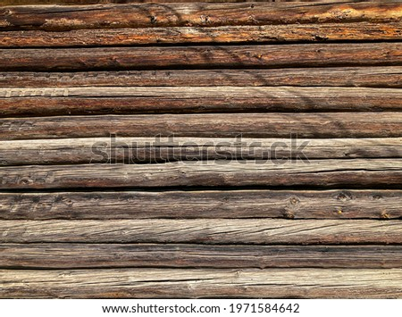 Wooden house and haystack wall pattern